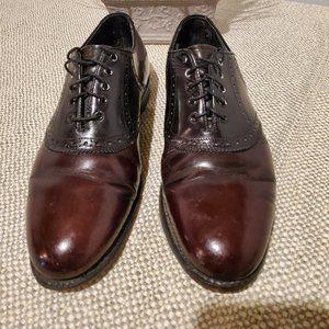 Bostonian Men's Mahogany/Black Two-toned leather